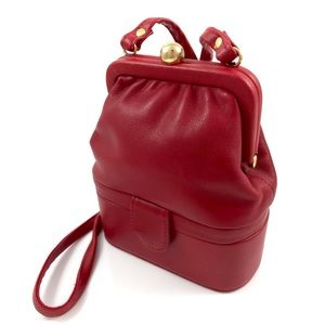 1960s vintage red leather mini bag by DIAMICCI